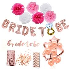Rose Gold <b>Team Bride</b> To Be <b>Balloons</b> Just Married Banner ...