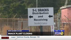 Nearly century-old Ga. <b>snacks</b> plant to shut down by <b>spring</b> 2022