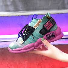 sneakers wanita <b>Women</b> Chunky Sneakers Platform 5cm Thick Sole ...