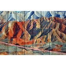 Купить <b>Картина на дереве Дом</b> Корлеоне Цветные горы 01-0187 ...