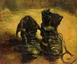 Las botas, cuadro de Van Gogh, utilizado para la entrada la evolución del bodegón realizada para la academia de dibujo y pintura Artistas6 de Madrid.