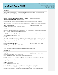 entry level cna resume template entry level cna resume