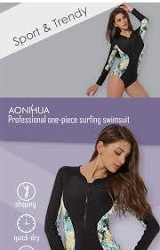 <b>AONIHUA</b> Swimwear Women New Sport One <b>Piece</b> Slim Bodysuit ...