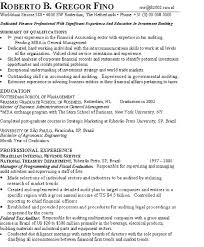 contoh resumes template investment example page 1 investment banking resume format