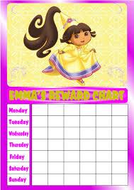 10 best images of dora sticker chart princess reward chart princess reward chart