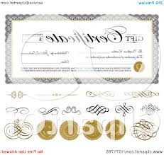 top gift certificate swirls and seals sample text image vectory hd certificate for vector swirl illustration top gift certificate swirls and seals sample text