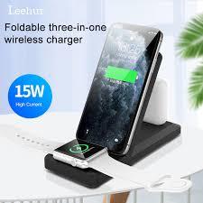 <b>Leehur</b> 15W Wireless Charger 3 in 1 <b>Foldable Mobile</b> Phone ...