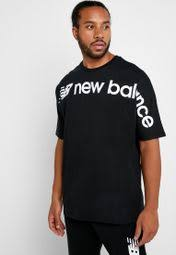 Shop New Balance black <b>Sportstyle Optiks Oversized</b> T-Shirt ...