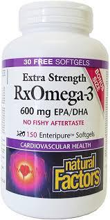 <b>RxOmega-3 Factors</b> / Extra Strength Softgels / 150 softgels: Amazon ...