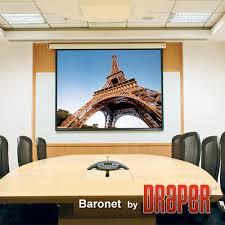"""<b>Draper</b> 129125 <b>Baronet</b> 106"""" Diag. (52"""" x 92"""") <b>HDTV</b> Format Matt ..."""
