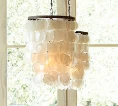 capiz chandelier pottery barn capiz lighting fixtures