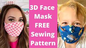 BEST <b>3D Face Mask</b> EASY to Sew | FREE Face Mask Pattern ...