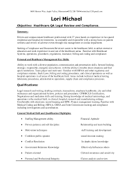 healthcare qa healthcare review and compliance resume