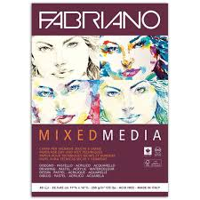 Альбом для <b>рисования FABRIANO</b> Mixed Media мелкое зерно, 40 ...