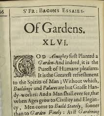bacons essay essays francis bacon bacons essay bacons bacons essayon bacon on gardens on science our oldest book