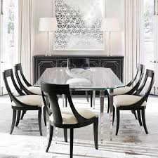 elegant square black mahogany dining table: for the discerning dining room my auxerre glass dining table makes for a striking
