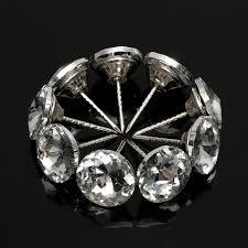 Best Price <b>20Pcs</b> Diamond Pattern Crystal <b>Upholstery Nails</b> Button ...