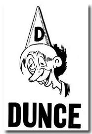Image result for dunce cap