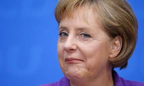 'Mighty Mrs Merkel is not the driver, but the driven,' said Die Zeit editor Josef Joffe. 'She has drawn so many lines in the sand, and abandoned them all.' - Angela-Merkel-the-German--008