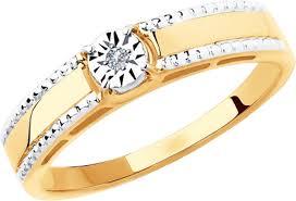 <b>Кольцо Diamant из золота</b> с бриллиантом — купить в интернет ...