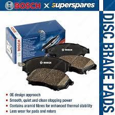 4 x Front Bosch <b>Blue Line</b> Disc Brake Pads for <b>Mazda</b> 2 DE 76kw 1.5 ...