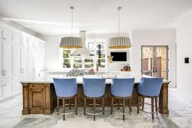 calacatta marble kitchen waterfall: hanoi pure white marble kitchen retouched  isabella ln dallas tx high res