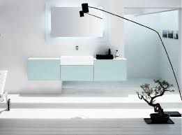 f captivating white bathroom design with wall mounted washbasin and cool led lighting fixtures behind rectangle wall mirror 1078x801 captivating bathroom lighting ideas white interior