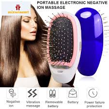 M   <b>Portable Electric Ionic Hair</b> Brush Negative <b>Ions</b> Scalp Ma ...