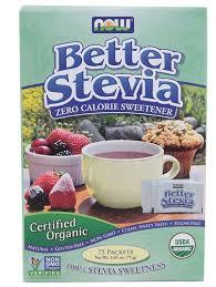 Now Foods <b>Better Stevia Zero Calorie</b> Sweetener (75 Packets ...