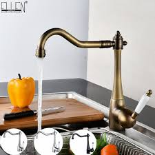 <b>Kitchen Faucets Deck Mounted</b> Mixer Tap 360 Degree Crane For ...
