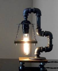 ad interesting industrial pipe lamp design ideas 18 black iron pipe table