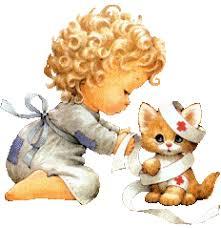 """Résultat de recherche d'images pour """"gif fillette et chaton"""""""