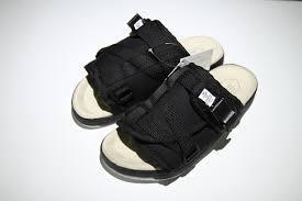 <b>Hot Selling</b> Visvim <b>Classic</b> Sandals Black/Grey Casual Slippers ...
