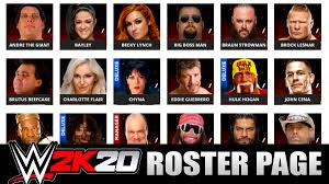 WWE 2K20 Roster - All Superstars Confirmed (Raw, SmackDown ...