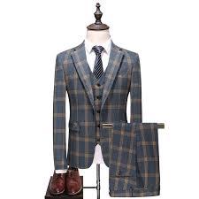 New trend <b>large size</b> plaid suit three piece suit, <b>men's business</b> ...
