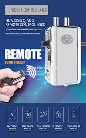 Wireless Door <b>Lock</b> Remote Control <b>Electronic</b> Anti theft <b>Lock</b> For ...