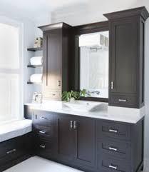 vanity linen cabinet car espresso cabinets with white countertops cabinets espresso bathroom va