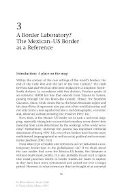 a border laboratory the mexican us border as a reference springer inside