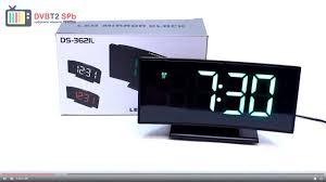 DS-3621L - обзор светодиодных часов - YouTube