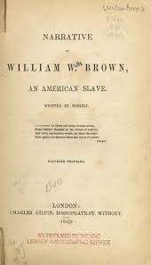 how to read a slave narrative  freedom    s story  teacherserve    title page  narrative of william w  brown