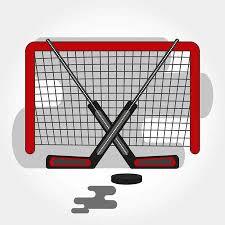 <b>Hockey Gates</b> With Crossed <b>Sticks</b> And Puck. Vector <b>Hockey</b> Symbol ...