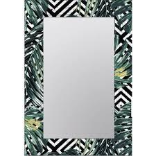 <b>Настенное зеркало Дом Корлеоне</b> Пальмовые листья 90x90 см ...