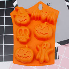 <b>Halloween</b> Holiday Style <b>Silicone Cake</b> Mold 6 Cavities Pumpkin ...