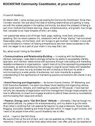 resume email and cv cover letter examples edition cover letter for a community manager