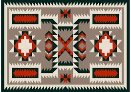Vector Borders Navajo Pattern Carpet Design  A