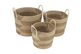<b>Set Of 3 Natural</b> Seagrass Basket | Living Spaces