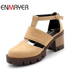 enmayer size 34 43 hot new high quality high heels women sandals tassle suede platform 3 colors summer wedding shoes woman