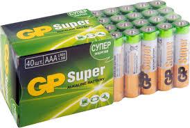 "<b>Набор алкалиновых батареек</b> ""GP <b>Batteries</b>"", тип ААА, 40 шт ..."