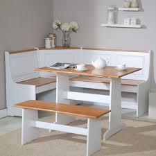 elegant white corner breakfast nook banquette furniture with storage