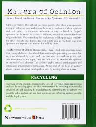 recycling matters of opinion carla mooney  recycling matters of opinion carla mooney 9781599536033 com books
